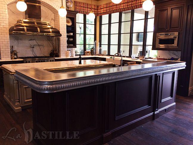 furnishings pewter bar bastille and la best labastilleinc works on images custom metal corner pinterest zinc countertops