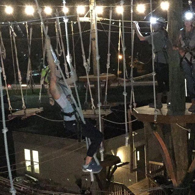 Nighttime adventure with College of Charleston Sorority Zeta Tau Alpha. Awesome job ladies. #wildblueropes #charleston #CofC #getoutside #outdoors #adventure #climbing #fun