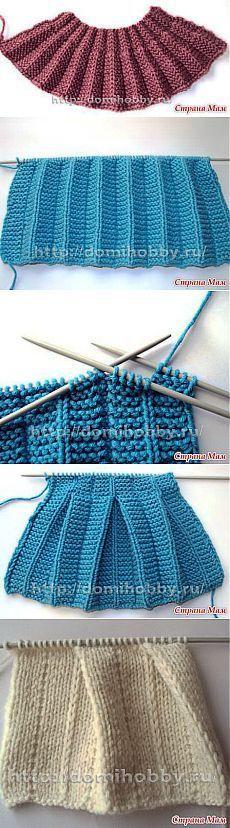 Tricotage effet & quot; & quot plis; et des plis