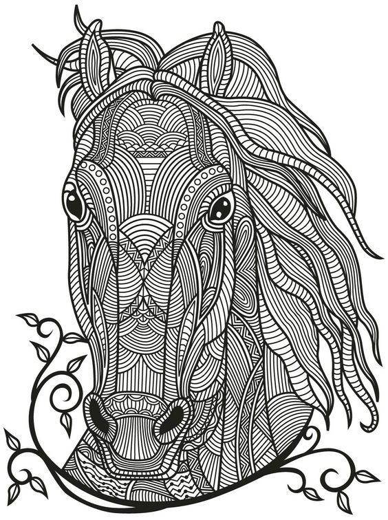 481 best Coloring pages Horse adult coloring images on Pinterest