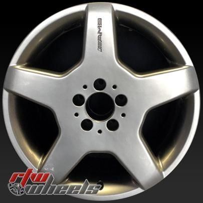 """Mercedes CL500 wheels for sale 2003-2004. 18"""" Silver rims 85316 - http://www.rtwwheels.com/store/shop/18-mercedes-cl500-wheels-oem-silver-85316/"""
