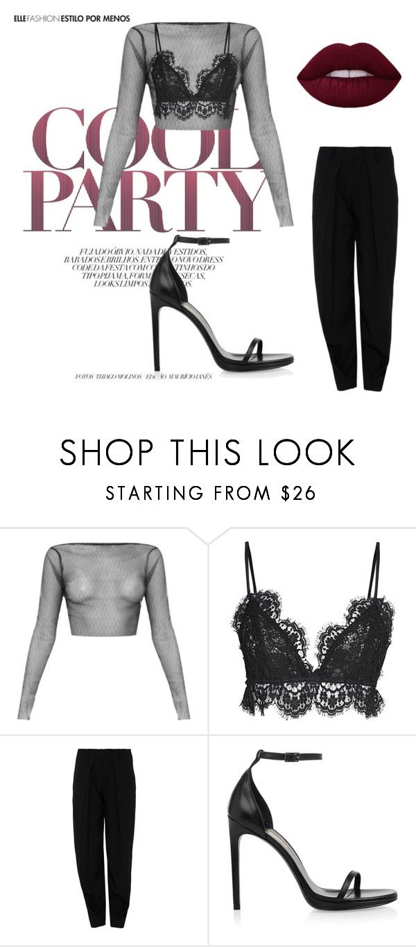 """party"" by anaunderground on Polyvore featuring moda, Isabel Marant, Kenzo e Yves Saint Laurent"