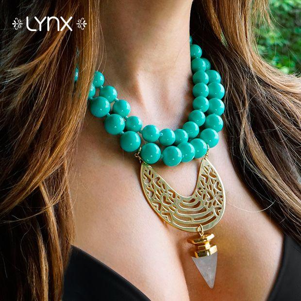 Statement Necklace!!!!✨Encuentra este collar de la nueva colección en todas nuestras tiendas! #Spring #newcollection #springcollection #ILoveLynx #lynxaccesorios #Lynx #outfit #necklace