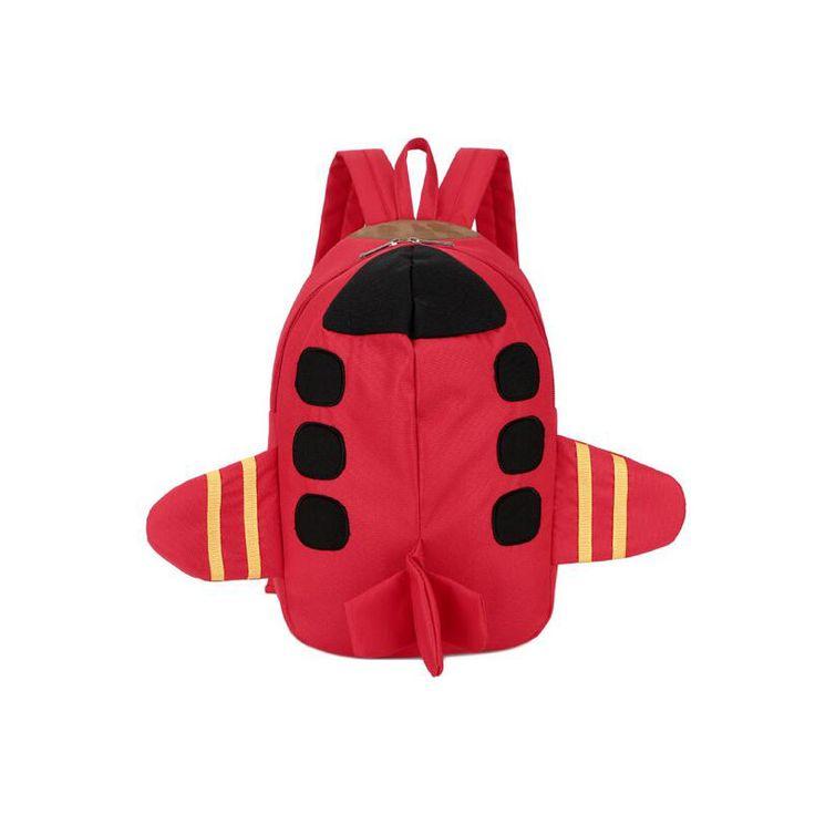 Children Canvas Cartoon 3D Planes modeling School Bags Girls Rucksacks Kindergarten Toddler Backpack Baby small Backpack Kid Bag