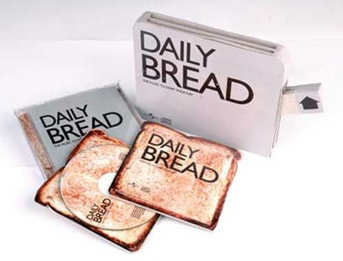 Daily Bread CD Pack This cover package was made for Daily Bread, a CD compilation of Gospel songs. #CD #packaging