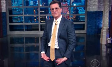 Stephen Colbert Begins The Donald Trump Era With A Yuuuge New Look | The Huffington Post