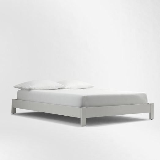 Simple Low Bed Frame White West Elm 249 For Twin