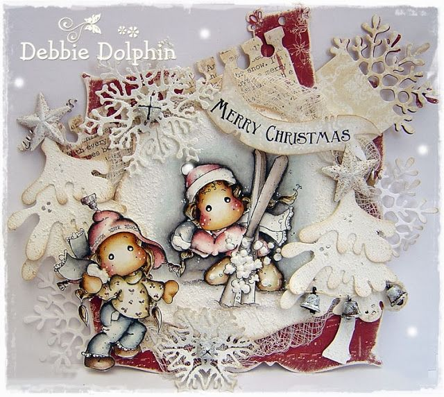 Stamps from Winter Wonderland collection, Magnolia stamps