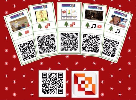 QR codes voor Kerst, gratis downloads voor kinderen en onderwijs!