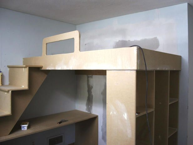 How to Build a Loft Bed With a Desk Underneath : Rooms : Home & Garden Television