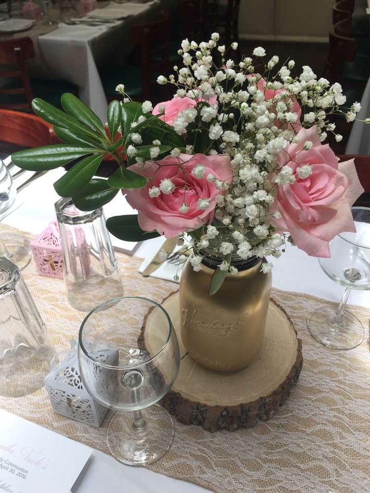 508 best images about baptism party ideas on pinterest - Decoration table communion fille ...