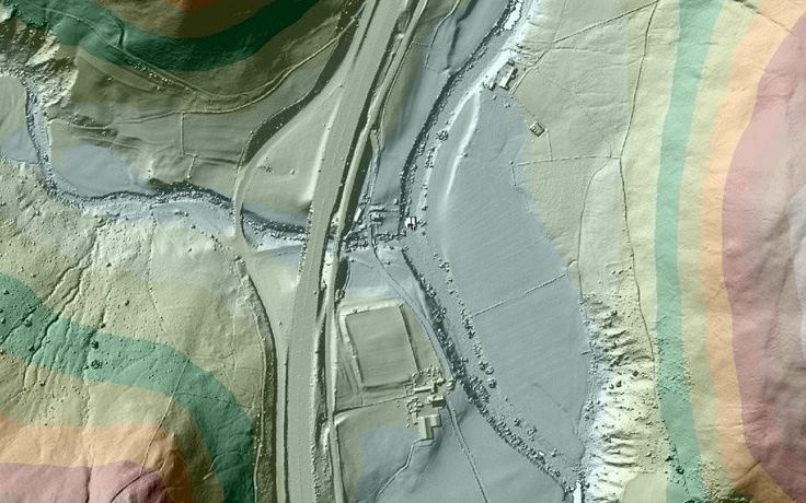 Lost Roman roads could be found using the Lidar data
