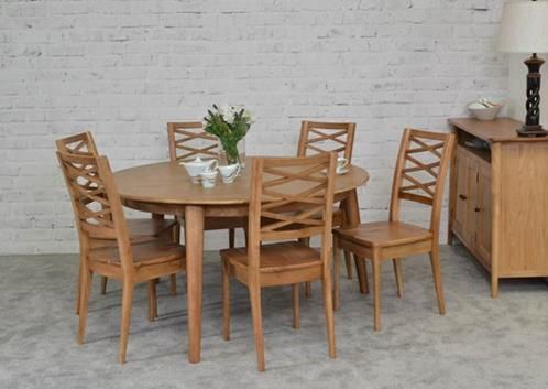 Dining table, brondby, round dining table, round dining set, round dining table, oak dining set, oak dining table, oak dining chair,