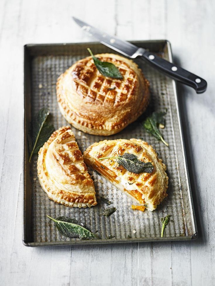 This take on a puff pastry pie is a smart vegetarian main course for a dinner party, or as a special family lunch. Layers of butternut squash mean that once cut open this French-style dish looks as good on the inside as it does on the outside with its dec