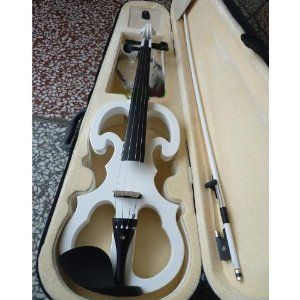 EMS Shipping 4/4 Electric Violin with Box (Model: Cc00015) (White) $152.99