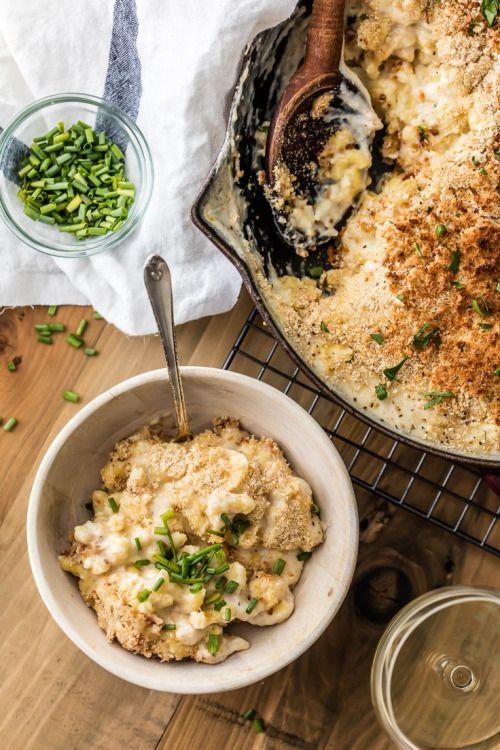 LARGE BATCH SKILLET WHITE CHEDDAR MAC AND CHEESEReally nice  Mein Blog: Alles rund um die Themen Genuss & Geschmack  Kochen Backen Braten Vorspeisen Hauptgerichte und Desserts # Hashtag