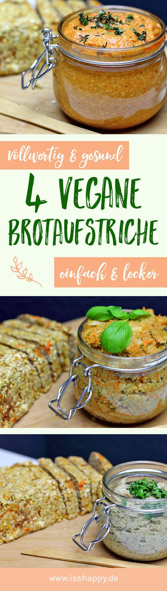 Veganer Brotaufstrich mit Grünkern und Karotte