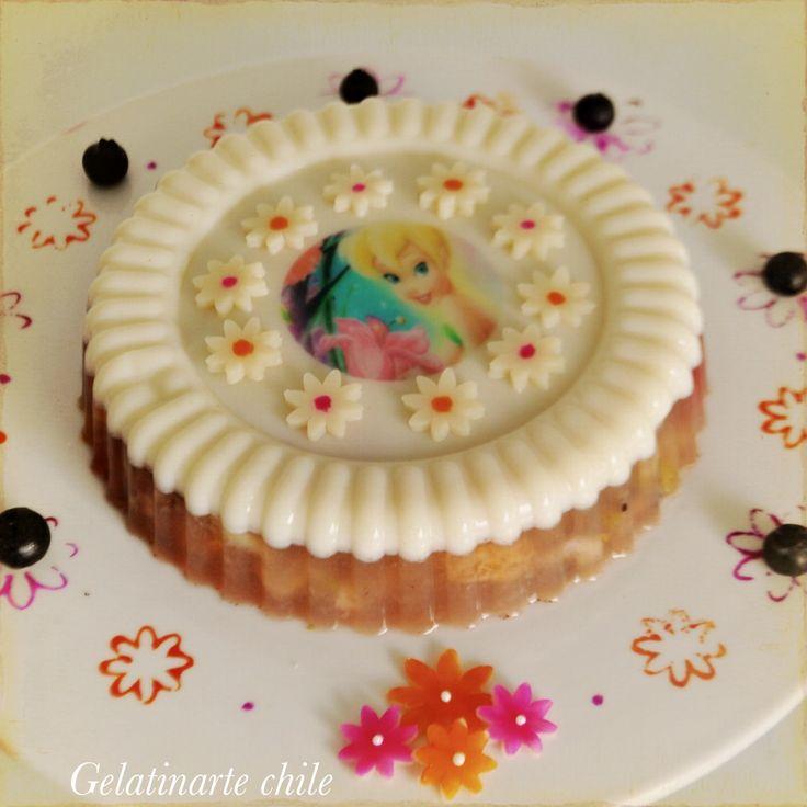 Gelatina artistica infantil con agar agar y frutas .