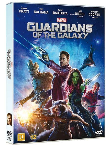 Guardians of the Galaxy -elokuvassa  Guardians of the Galaxy -dvd Marvelin elokuvauniversumi laajenee kosmoksen rajoille, kun seikkailijanrenttu Peter Quill varastaa mystisen pallon ja joutuu palkkionmetsästyksen kohteeksi. Paetakseen vihollisiaan hän joutuu lyöttäytymään yhteen pesukarhun, puunkaltaisen humanoidin, salamurhaajan ja kostonhimoisen Drax Tuhoajan kanssa. Kesto 1 t 56 min. 11+
