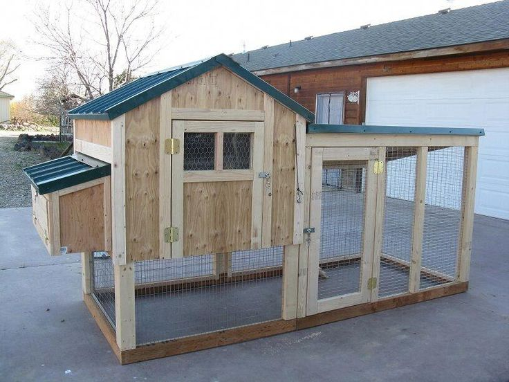 Chicken coop framing plan with material list, The 4 X 4 ...