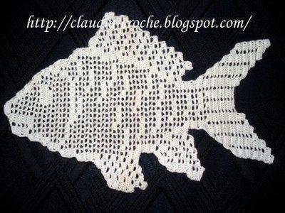 Gráficos de peixes em crochê - Vix