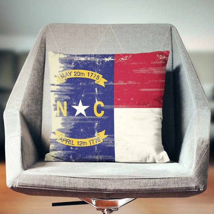 North Carolina Pillow | NC Pillow | North Carolina Decor | North Carolina Gifts | NC Flag | North Carolina Flag | North Carolina State by wfrancisdesign on Etsy https://www.etsy.com/listing/275243698/north-carolina-pillow-nc-pillow-north
