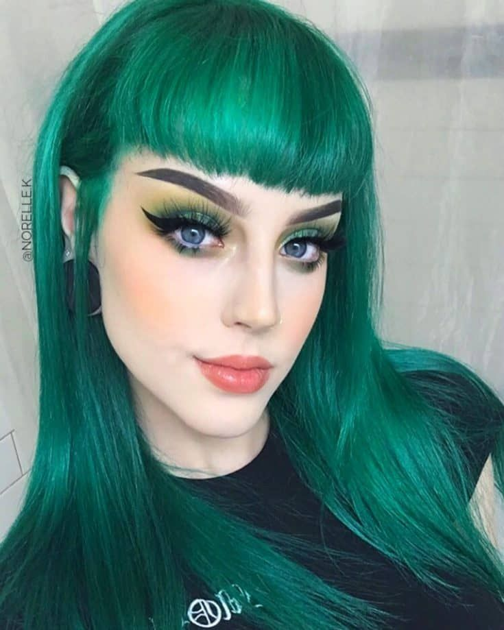 Pin by Ms April Shae on Hair Color Ideas in 2020 Green