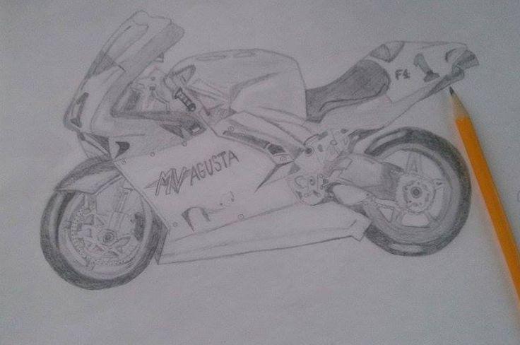 Drawings - AV Agusta, motorbike, motorcycle