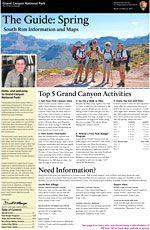 South Rim- grand canyon -Cover of 2013 Spring South Rim Guide