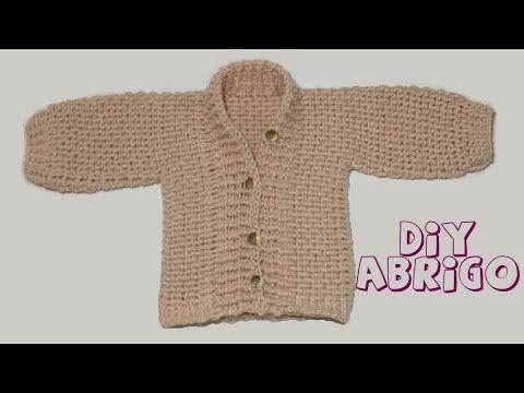 Cómo tejer abrigo de bebé en crochet.. Link download: http://www.getlinkyoutube.com/watch?v=S8P4T0qIVkI
