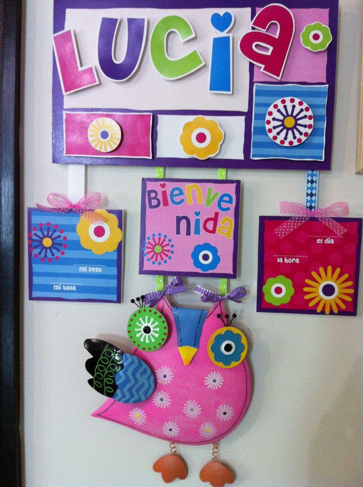59 best carteles nombres y nacimiento images on pinterest - Carteles para puertas habitaciones ...