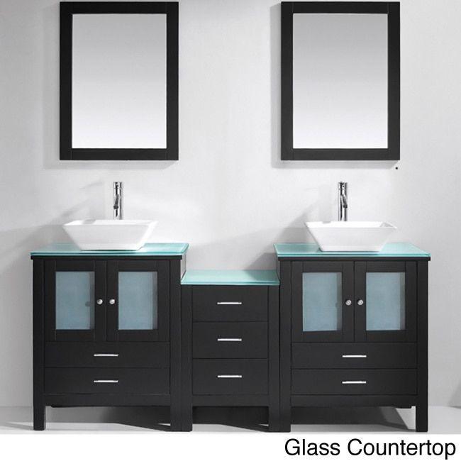 Virtu USA Brentford 72-Inch Double Sink Bathroom Vanity Set