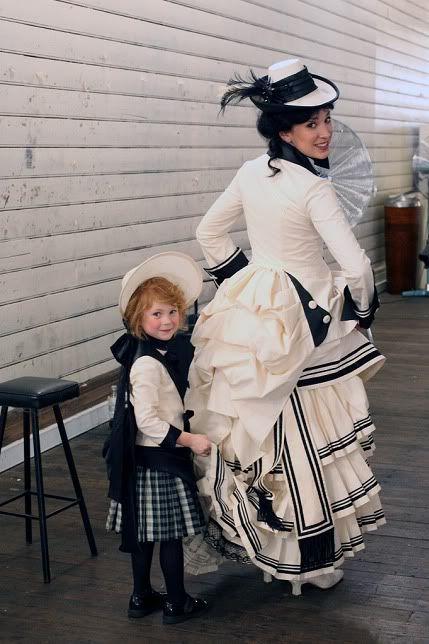 1880 S Bustle Black Amp White Dress The Little Girl Is So