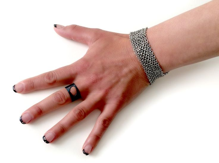Stainless Steel Chain Bracelets by Melissa Osgood