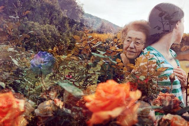self portrait with my grandmother (by anni di prospero)
