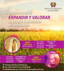 Instituto Holístico Monterrey: Próximos cursos Reiki Crístico y Reiki Angélico 2016  2017