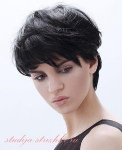 Женская короткая стрижка на пышные волосы