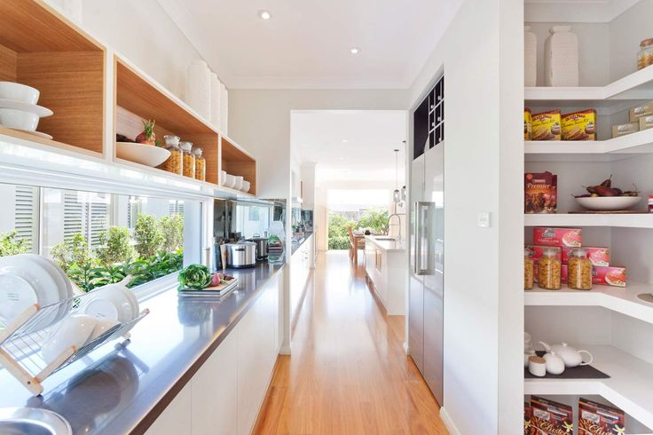 Take a look at this Butler's pantry in the Pacific design from McDonald Jones, perfect for keeping any clutter and food prep out of sight while entertaining. Has a good amount of storage too. On display at North Lakes Brisbane. #butlerspantry #kitchen #mcdonaldjones #mcdonaldjoneshomes #displayhomes #northlakes #brisbane