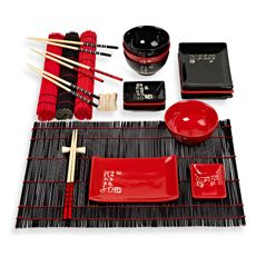 Infuse 24-Piece Asian Serving Set $29.99 ((W) i dont know what it is, but apparently I have an affinity for japanese decor and stuff. I think somewhere along the line I have been brainwashed. Its quite possible... theres a conspiracy. Anywho... this is a super cute set. I actually like the other set with the spoons better, because it has spoons. But this one is cheaper so... either way.)