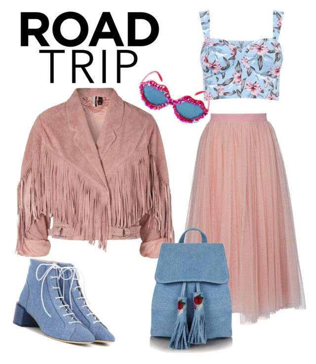 """""""#roadtrip"""" by ralugoii on Polyvore featuring Ida Sjöstedt, Acne Studios, Topshop and Gasoline Glamour"""