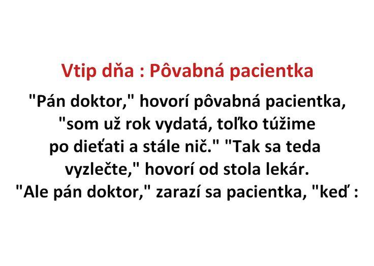 Vtip dňa : Pôvabná pacientka - Spišiakoviny.eu