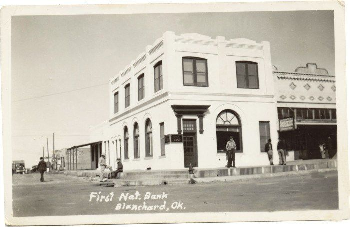 12 The First National Bank In Blanchard Ok In 1920 100 Years Ago Oklahoma City Hall