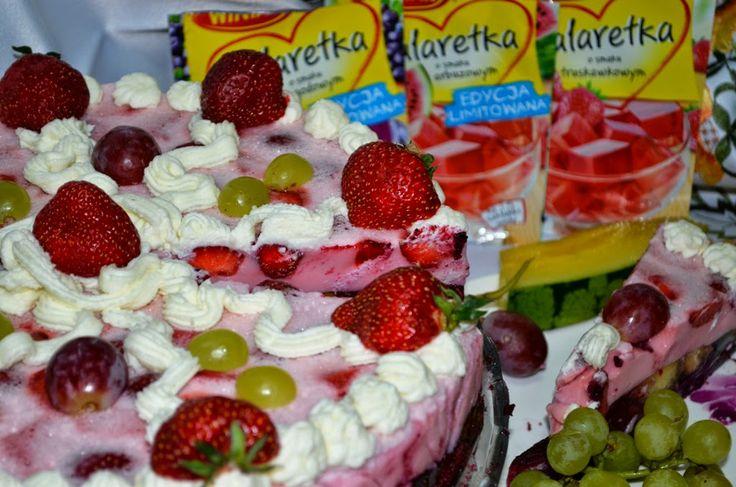 Smak, zapach, kolor, tradycja z nutką nowoczesności...: Torcik na zimno mega owocowy