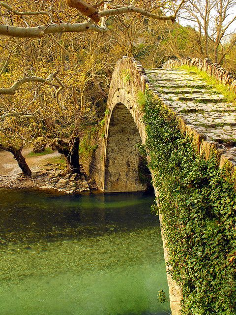 Ancient Stone Bridge, Epiros, Greece