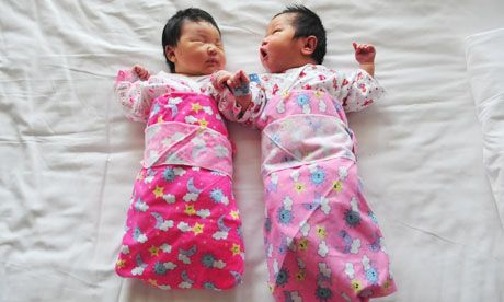 Newborn babies in Beijing: some families are beginning to think it may be an advantage to have girls Photograph: FREDERIC J. BROWN/AFP/Getty...