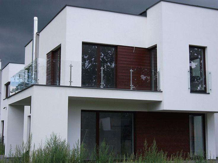 Balustrada zewnętrzna, szkło bezpieczne, stal nierdzewna – Milanówek