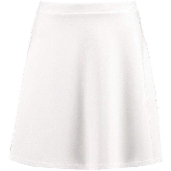 Boohoo Roseanna Fit & Flare Skater Skirt (100 ZAR) ❤ liked on Polyvore featuring skirts, flared maxi skirt, white skater skirt, white flared skirt, midi skirt and midi skater skirt