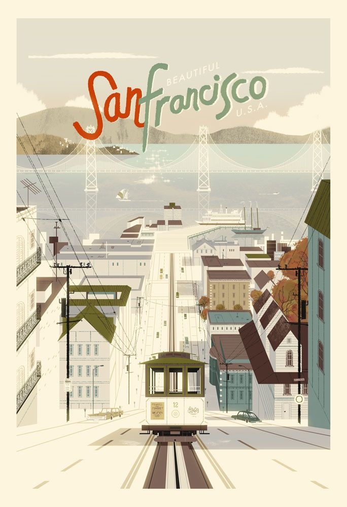 San Francisco Poster by Kevin Dart