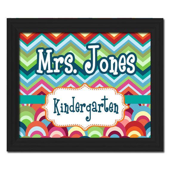 custom printable pdf file diy teacher name sign by teachersigns