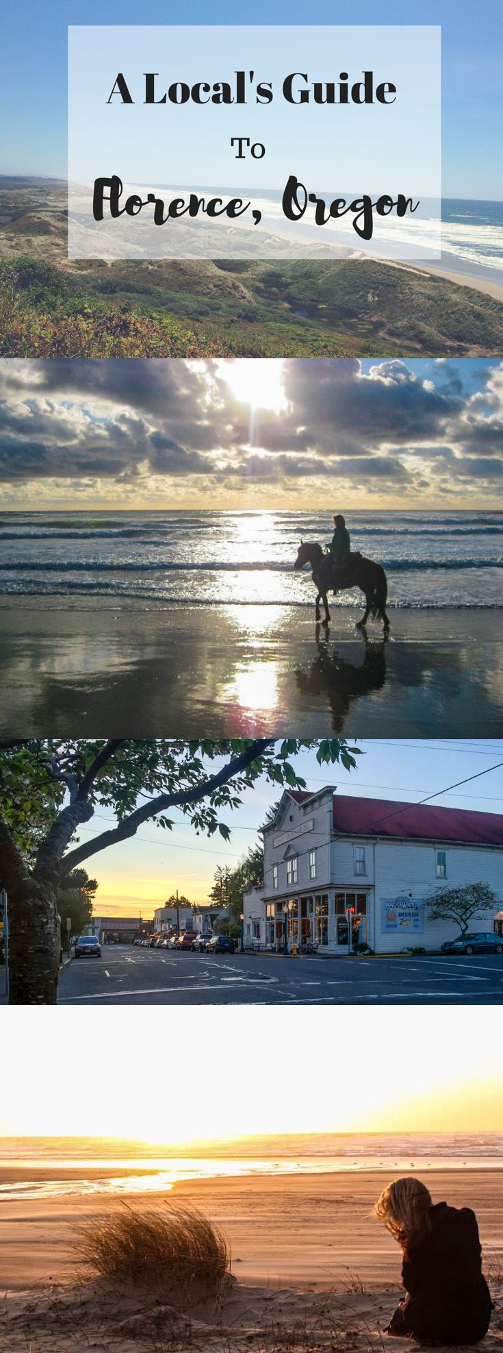 A travel guide of what do eat, drink and do in Florence, Oregon - Oregon's central coast.